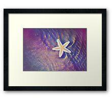 Sea Star. Memory of the Sunny Days in Tropics Framed Print
