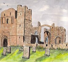 Lindisfarne Priory Part II by GEORGE SANDERSON