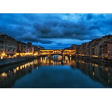 Clouds over Ponte Vecchio Photographic Print
