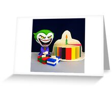 Retro Joker Birthday Greeting Card
