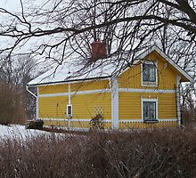 Yellow house by Paola Svensson