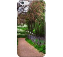 Lacy White and Viridian Green of Dutch Spring iPhone Case/Skin