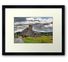 Storm Clouds and Farms Framed Print