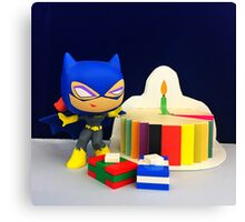 Mini Batgirl Birthday Canvas Print