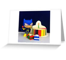 Mini Batgirl Birthday Greeting Card