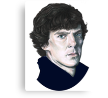 A tribute to Sherlock Canvas Print