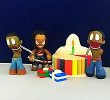 Michonne & Pets Birthday by FendekNaughton