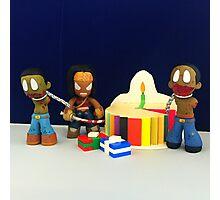 Michonne & Pets Birthday Photographic Print
