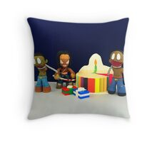Michonne & Pets Birthday Throw Pillow