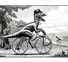 Velociraptor on a Velocipede by Smaggers
