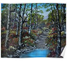 """""""Blooming Forest"""" - oil painting Poster"""