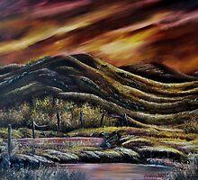 """Sunset Marsh"" - Oil Painting by Avril Brand"