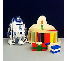 R2-D2 Birthday Photographic Print