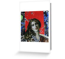 Red girl Greeting Card