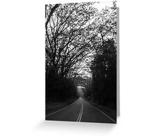A road to nowhere Greeting Card