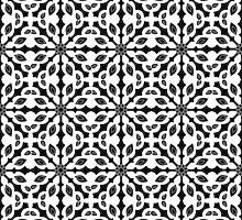 seamless pattern in black and white by Ann-Julia