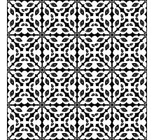 seamless pattern in black and white Photographic Print