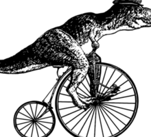T-Rex on a Penny Farthing - Plain Back Sticker