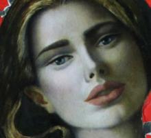 Red girl Sticker