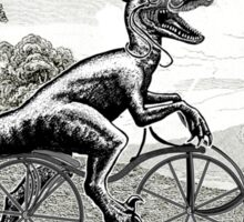 Velociraptor on a Velocipede Sticker