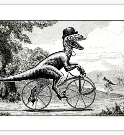 Velociraptor on a Velocipede Sticker