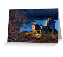Eilean Donan Castle from Carr Brae. Dornie, Western Highlands of Scotland. Greeting Card
