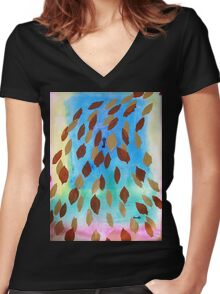 The Secret Garden Women's Fitted V-Neck T-Shirt