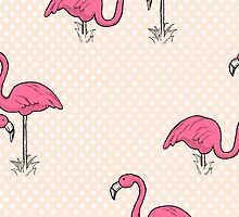 Pink Flamenco Flamingos by MariaDiaz