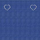 Denim Jeans Lookalike Torn Heart by Gotcha29