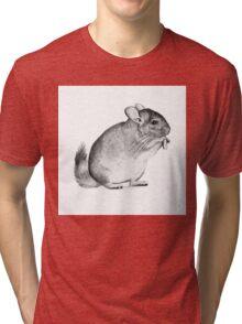 chinchilla,drawing, pencil ,sketch Tri-blend T-Shirt