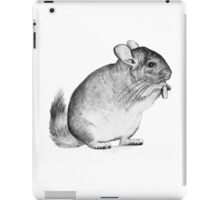 chinchilla,drawing, pencil ,sketch iPad Case/Skin