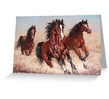 Runaway horses... Greeting Card