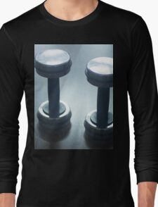 Dumbbell gym metal weights in gym health club Long Sleeve T-Shirt