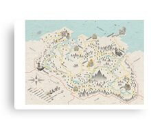 Skyrim Map Canvas Print