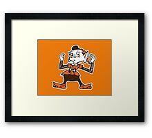 Johnny Manziel Cleveland Browns Elf Framed Print