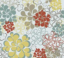 Floral retro pattern by olgart