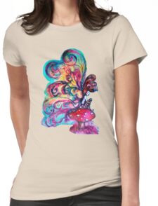 SMALL ELF OF MUSHROOMS Womens Fitted T-Shirt