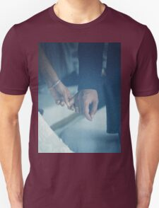 Wedding couple bride groom holding hands analogue film photo T-Shirt