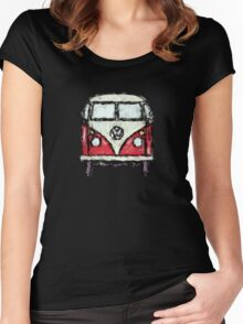 Ruffdup Splittie Campervan Women's Fitted Scoop T-Shirt