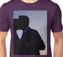 LGBT gay wedding marriage grooms kiss silhouette wedding photo Unisex T-Shirt