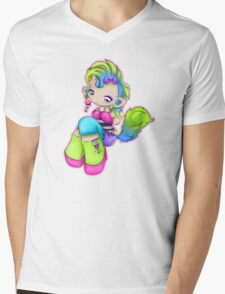 Punk Rock Kitty Girl Mens V-Neck T-Shirt