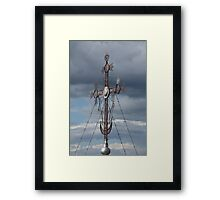 Cross and Crescent Framed Print