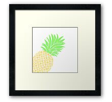 Bright Pineapple Pineapples Traditional Pastel Yellow Green  Framed Print