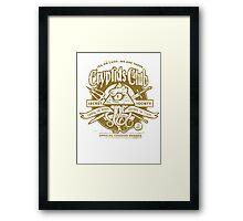 Cryptids Club (Light Shirt Version) Framed Print
