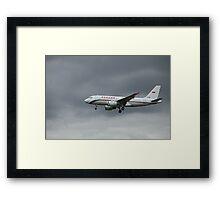airliner flight in the sky Framed Print