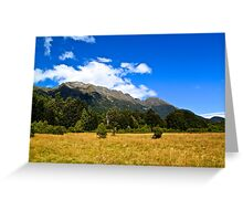 Blue Clear Sky Moutains, HD Photograph Greeting Card