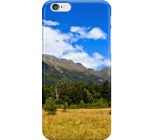 Blue Clear Sky Moutains, HD Photograph iPhone Case/Skin