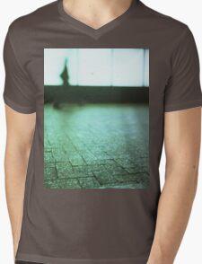 Man walking in city street Hasselblad medium format analog film Mens V-Neck T-Shirt
