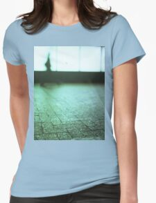 Man walking in city street Hasselblad medium format analog film Womens Fitted T-Shirt