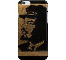Soviet badge Lenin black  profile iPhone Case/Skin